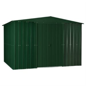 10x12ft Lotus Metal Shed Heritage Green