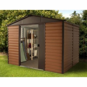 10x6ft Yardmaster Woodgrain Metal Shed