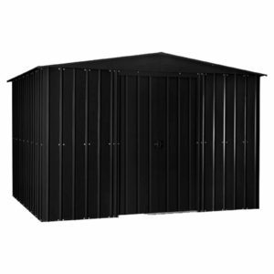10x7ft Lotus Metal Shed Anthracite Grey