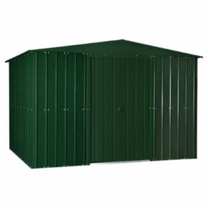 10x8ft Lotus Metal Shed Heritage Green
