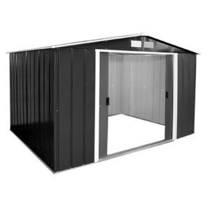 10x8ft Sapphire Apex Metal Shed Anthracite