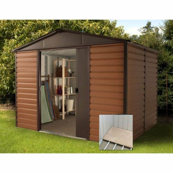 10x8ft Yardmaster Woodgrain Shed & Floor Frame
