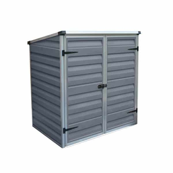 4x2ft Palram Voyager Dark Grey Pent Shed
