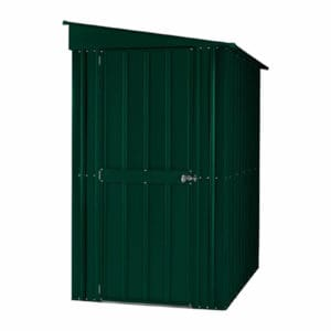 4x5ft Lotus Metal Lean To Shed Heritage Green