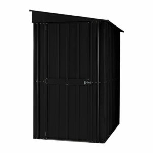 4x8ft Lotus Metal Lean To Shed Anthracite Grey