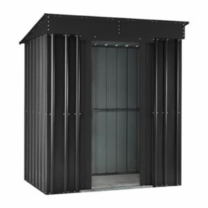 5x3ft Lotus Metal Pent Shed Anthracite Grey