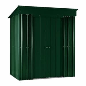 5x3ft Lotus Metal Pent Shed Heritage Green