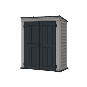 5x3ft Saffron Vinyl Pent Shed Grey