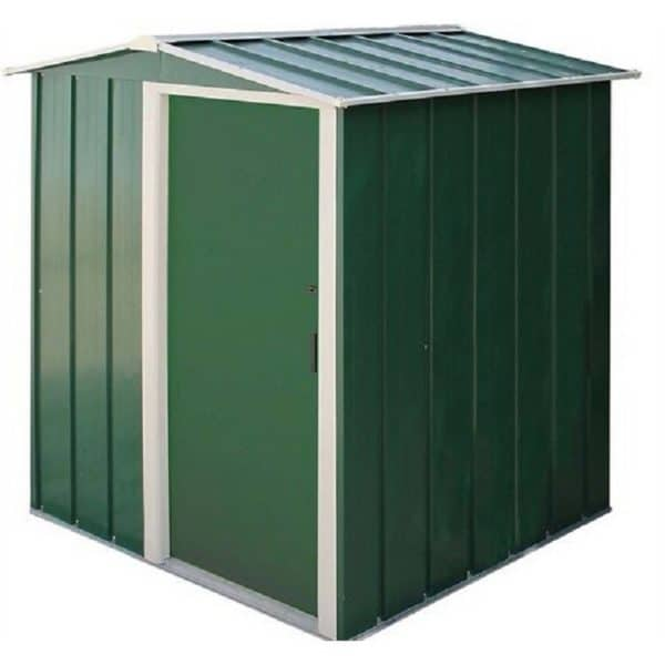 5x4ft Sapphire Apex Metal Shed Green