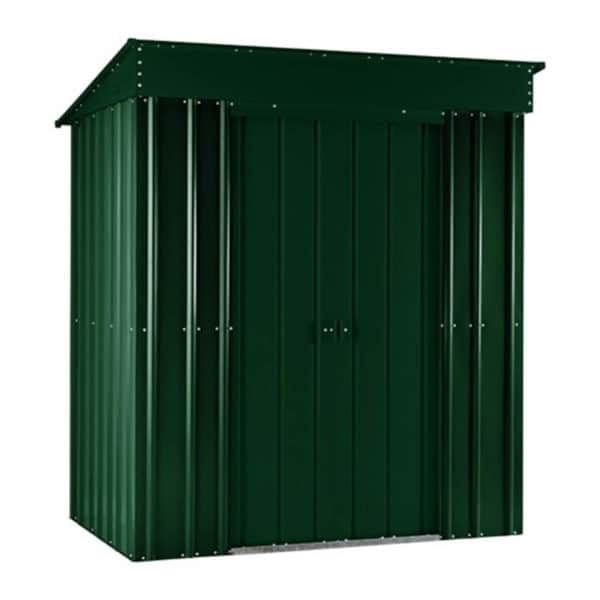 6x3ft Lotus Metal Pent Shed Heritage Green