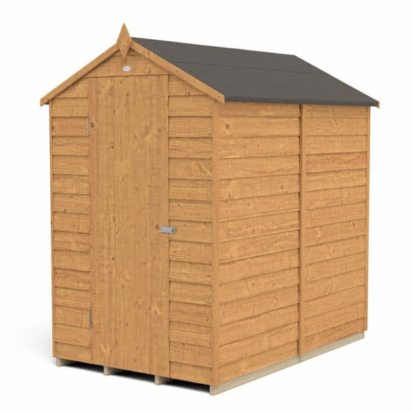6x4ft Forest Overlap Dip Treated Apex Shed - No Window- incl. Installation