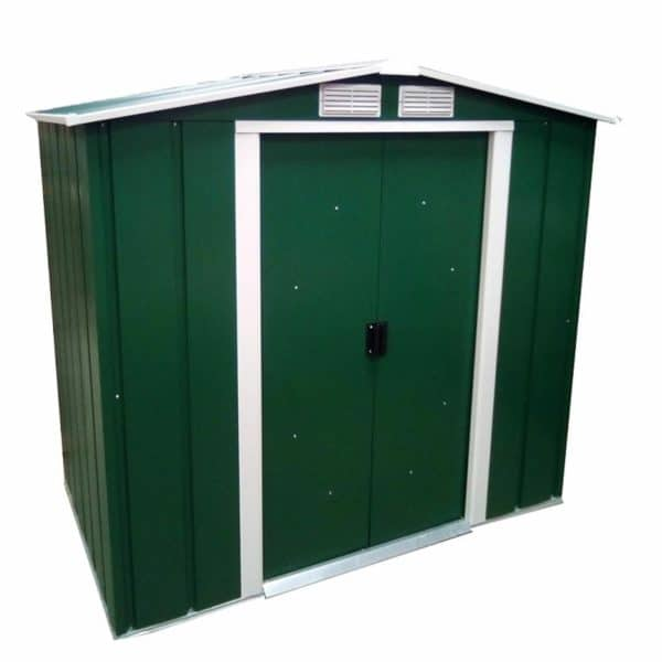 6x6ft Sapphire Apex Metal Shed Green