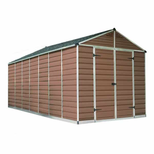 8x16ft Palram SkyLight Amber Apex Shed