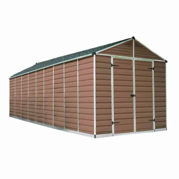 8x20ft Palram SkyLight Amber Apex Shed
