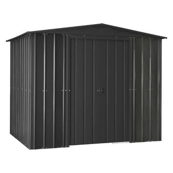 8x5ft Lotus Metal Shed Solid Anthracite Grey