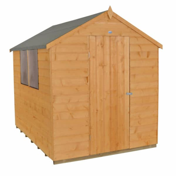 8x6ft Forest Golden Brown Shiplap Apex Wooden Shed