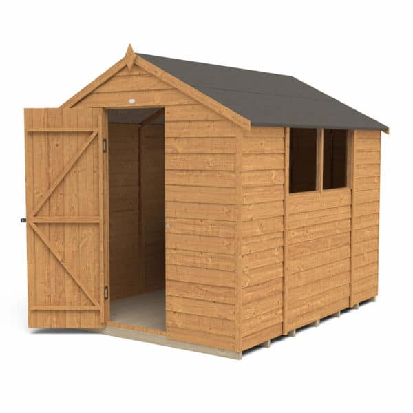 8x6ft Forest Overlap Dip Treated Apex Shed