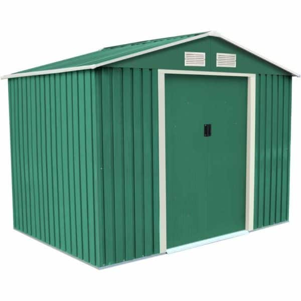 Charles Bentley 8ft x 6ft Metal Shed With Floor Frame