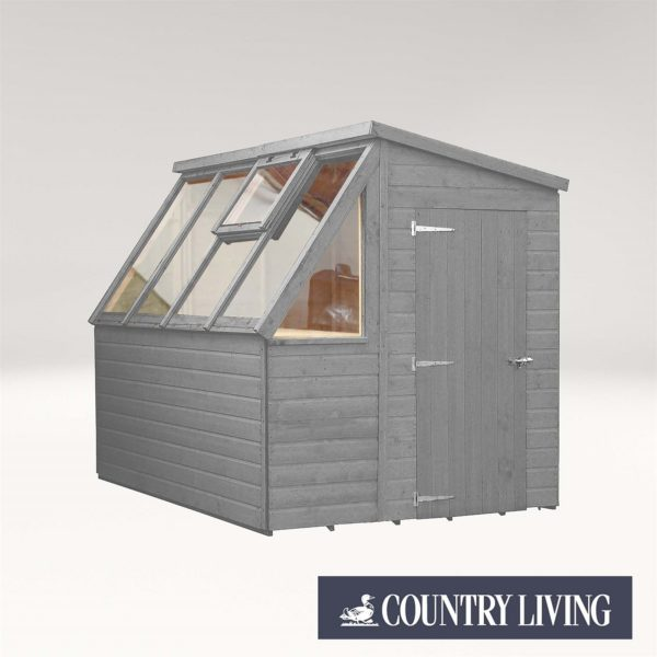 Country Living Caythorpe 8 x 6 Premium Potting Shed Painted + Installation - Thorpe Towers