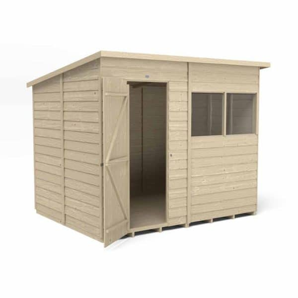 Forest Garden Forest Overlap Press Treat 8x6 Pent Shed Wood