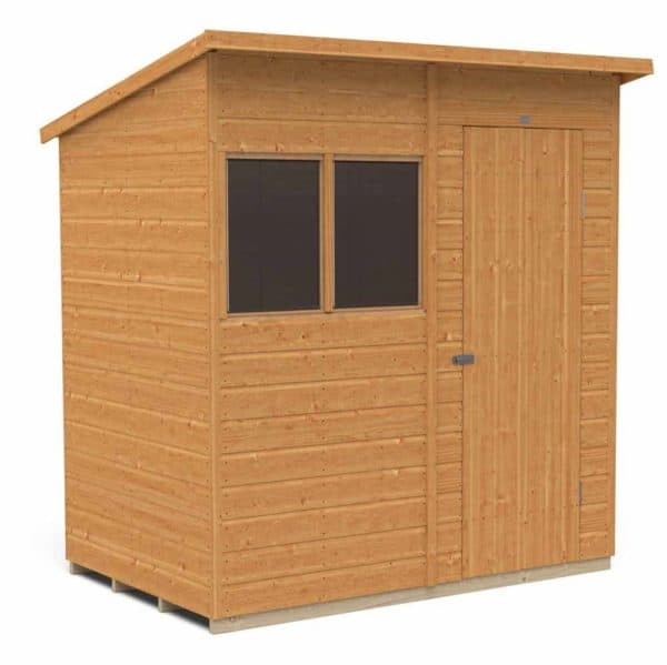 Forest Garden Forest Shiplap Dip Treated 6x4 Pent Shed Wood