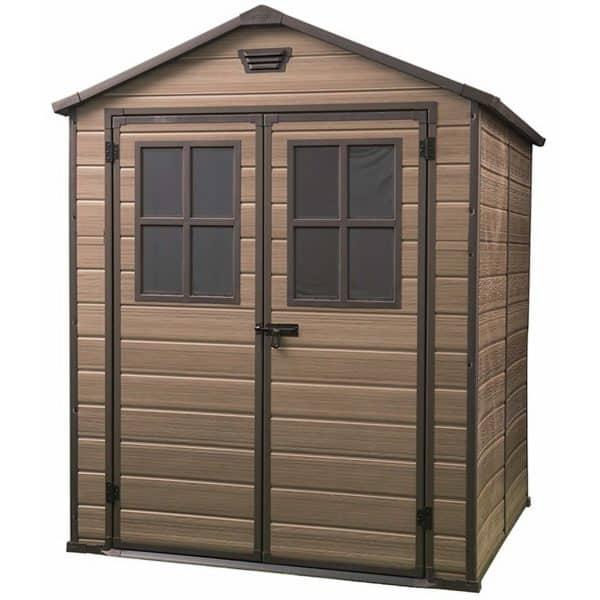 Keter Scala Outdoor Garden Storage Shed 6x8ft Brown