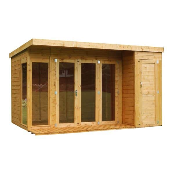 Mercia 12x8ft Garden Room with Side Shed