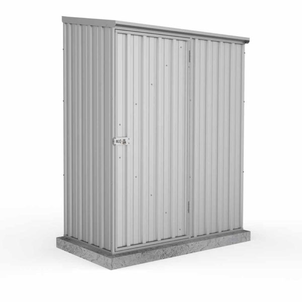 Mercia Garden Products Absco Space Saver 1.52 x 0.78m Pent Metal Shed