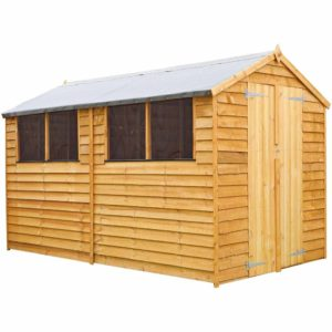 Mercia Garden Products Mercia 10 x 6ft Overlap Apex Garden Shed Wood