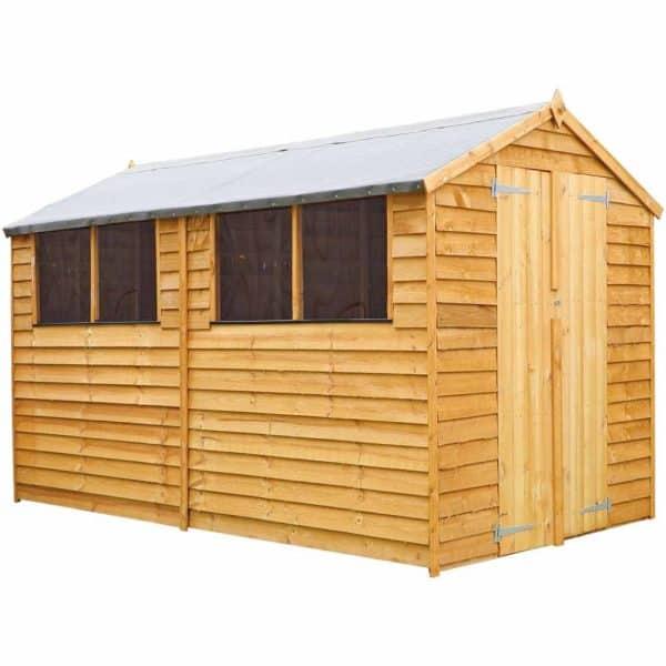Mercia Garden Products Mercia 10 x 6ft Overlap Apex Garden Shed Wood