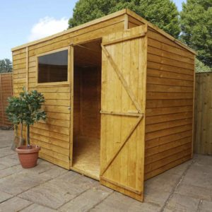 Mercia Garden Products Mercia 10 x 6ft Overlap Pent Garden Shed Wood