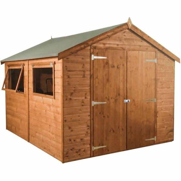 Mercia Garden Products Mercia 10 x 6ft Premium Pressure Treated Shiplap Apex Garden Shed Wood