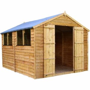 Mercia Garden Products Mercia 10 x 8ft Overlap Apex Garden Shed Wood