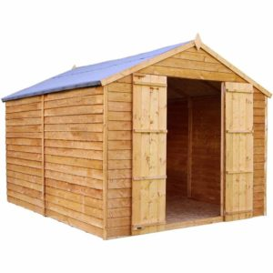 Mercia Garden Products Mercia 10 x 8ft Overlap Windowless Apex Shed Wood