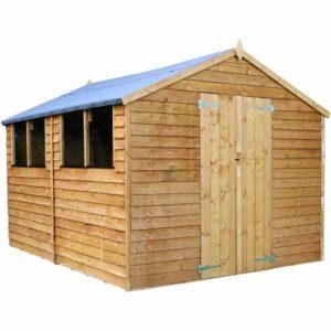 Mercia Garden Products Mercia 12 x 8ft Overlap Apex Garden Shed Wood