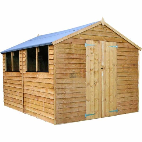 Mercia Garden Products Mercia 12 x 8ft Overlap Apex Garden Shed Wood