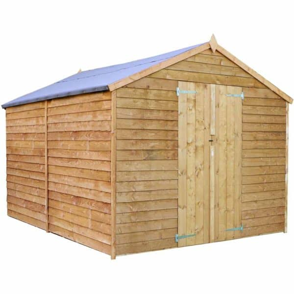 Mercia Garden Products Mercia 12 x 8ft Overlap Windowless Apex Shed Wood