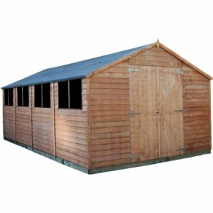 Mercia Garden Products Mercia 20 x 10ft Overlap Workshop Apex Shed Wood