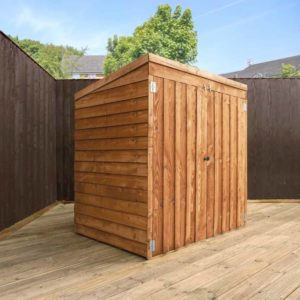 Mercia Garden Products Mercia 3 x 5ft Overlap Pent Mower Storage Shed Wood