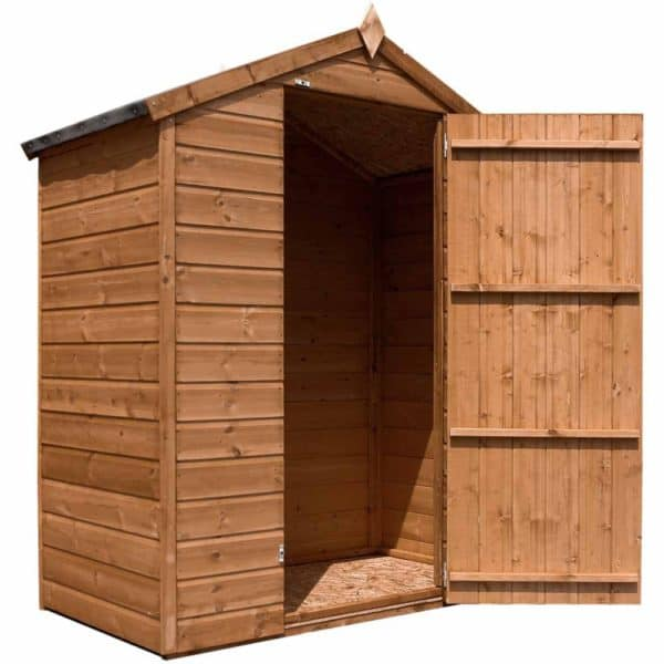 Mercia Garden Products Mercia 3 x 5ft Pressure Treated Shiplap Apex Garden Shed, No Window Wood