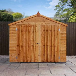 Mercia Garden Products Mercia 3 x 7ft Overlap Apex Bike Storage Shed Wood