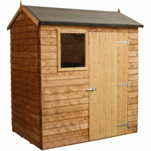 Mercia Garden Products Mercia 4 x 6ft Overlap Reverse Apex Garden Shed Wood