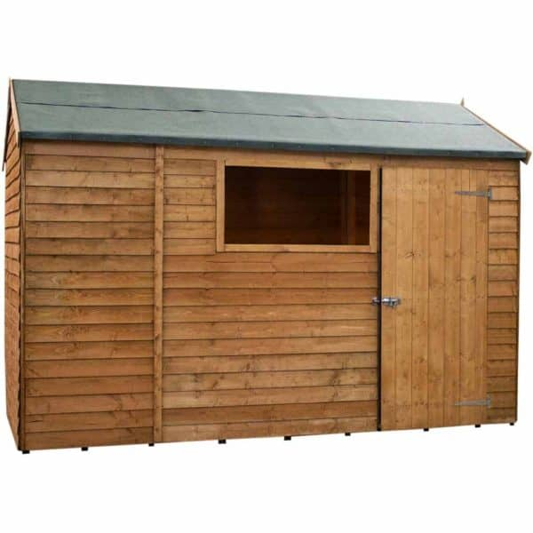 Mercia Garden Products Mercia 6 x 10ft Overlap Reverse Apex Garden Shed Wood