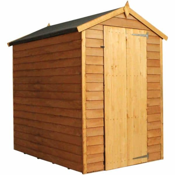 Mercia Garden Products Mercia 6 x 4ft Overlap Apex Garden Shed, No Window Wood