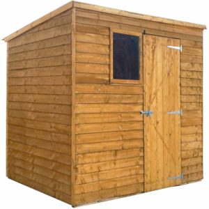 Mercia Garden Products Mercia 7 x 5ft Overlap Pent Garden Shed Wood
