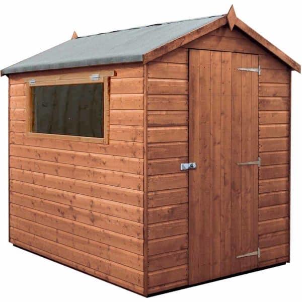 Mercia Garden Products Mercia 7 x 5ft Premium Pressure Treated Shiplap Apex Garden Shed Wood