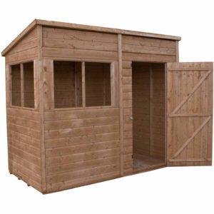 Mercia Garden Products Mercia 8 x 4ft Modular Shiplap Pent Shed Wood