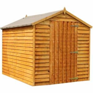 Mercia Garden Products Mercia 8 x 6ft Overlap Apex Garden Shed, No Window Wood