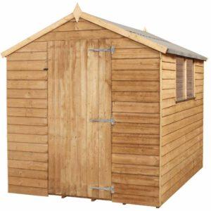 Mercia Garden Products Mercia 8 x 6ft Overlap Apex Garden Shed Wood