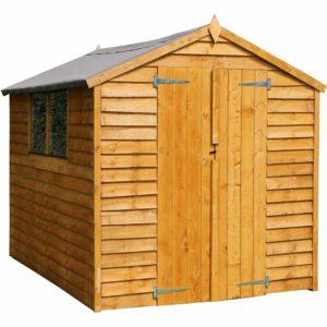 Mercia Garden Products Mercia 8 x 6ft Overlap Double Door Apex Garden Shed Wood